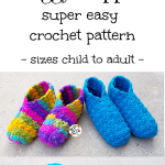 Huggy Slippers Crochet Pattern