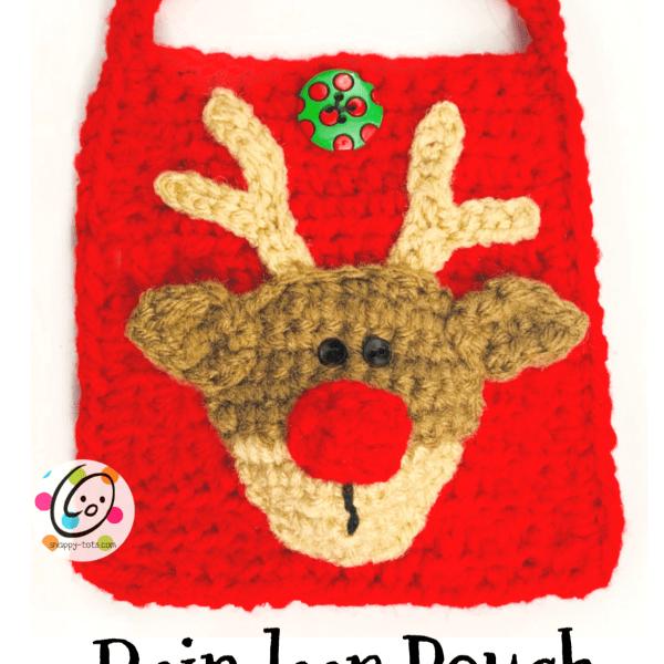 Crochet Reindeer Pouch
