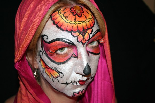 Sugar Skull Day Of Dead Denver Colorado Face And