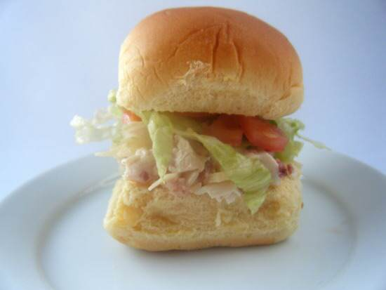 Ranch Chicken Club Salad Sliders Recipe | SnappyGourmet
