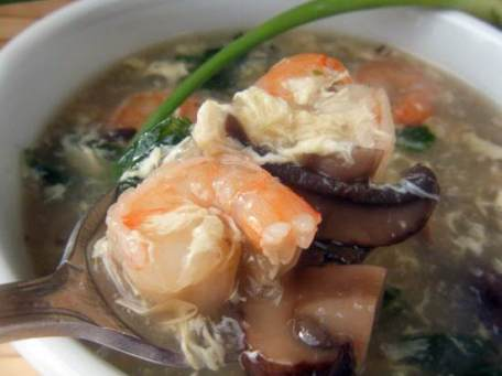 Shrimp & Veggie Egg Drop Soup Recipe | SnappyGourmet.com