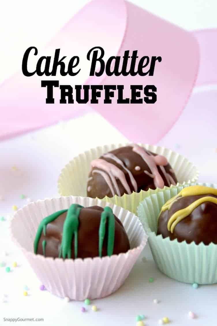 Cake Batter Truffles in liners