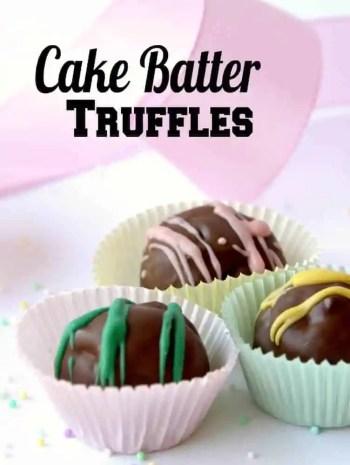 Cake Batter Truffles Recipe (No Bake Cake Balls from Scratch)