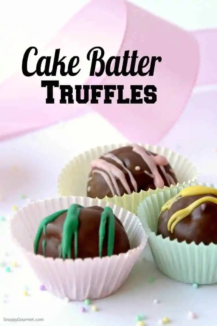 Cake Batter Truffles in liners