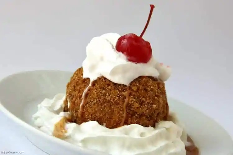 Fried Ice Cream Recipe - homemade Mexican fried ice cream dessert