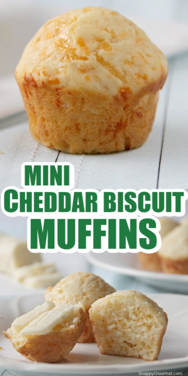 Mini Cheddar Biscuit Muffin collage