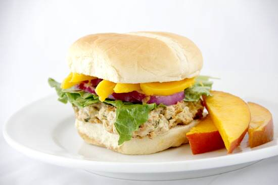 Caribbean Mango Chicken Burgers Recipe | SnappyGourmet.com