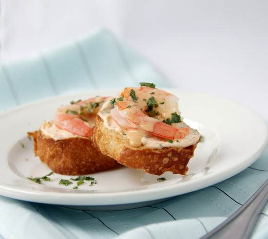 Creamy Chipotle Shrimp Crostini Recipe   SnappyGourmet.com
