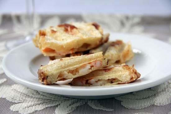 Mini Tarragon Lemon Shrimp Paninis Recipe | SnappyGourmet.com