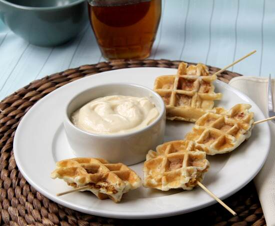 Crunchy Chicken Stuffed Waffle Pops Recipe | SnappyGourmet.com