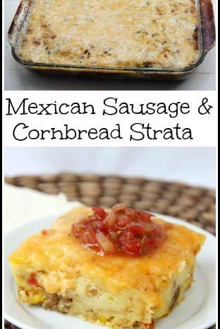 Mexican Sausage & Cornbread Strata
