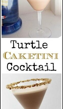 Turtle Caketini cocktail recipe - easy drink with chocolate, caramel, and cake vodka. SnappyGourmet.com