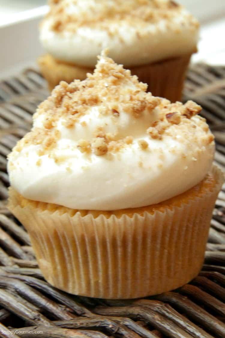 Pumpkin Ale Cupcakes - recipe for pumpkin cupcakes with cake mix