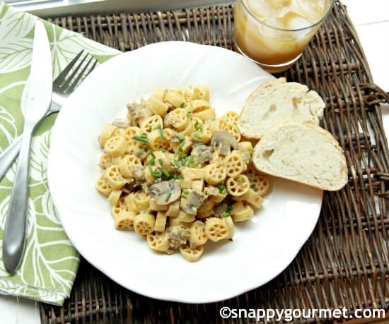 Creamy Pumpkin Sage Sausage Pasta Recipe | SnappyGourmet.com