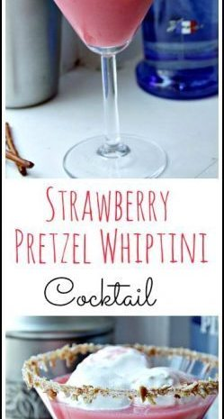 Strawberry Pretzel Whiptini