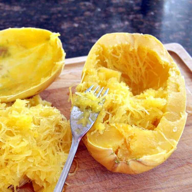 Asian Peanut Spaghetti Squash Stir Fry Recipe - How to make spaghetti squash