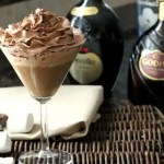Mississippi Mudtini Recipe - simple Chocolate Martini recipe with marshmallow vodka, Godiva chocolate liqueuer, and Nocello. Fun Mississippi Mud drink! SnappyGourmet.com