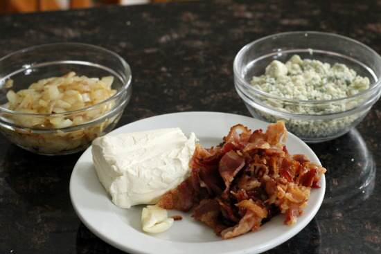Blue Cheese, Bacon, & Onion Spread Recipe | SnappyGourmet.com