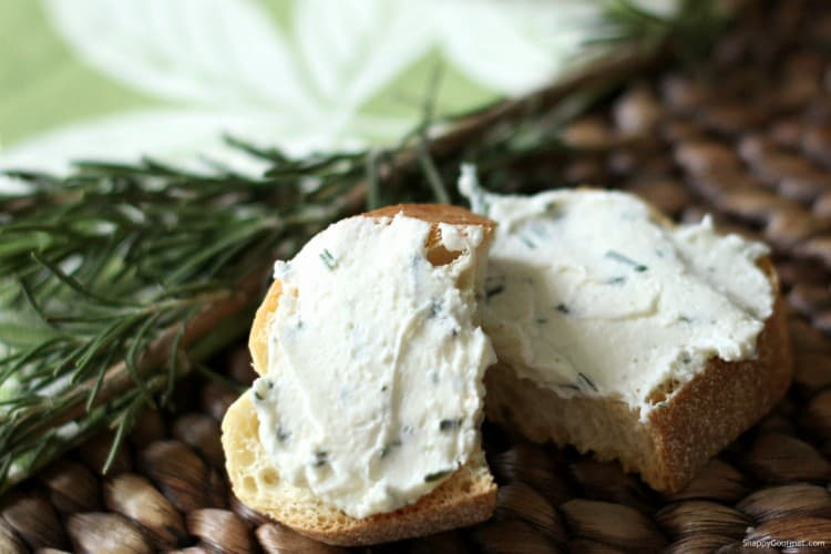 crostini with feta spread