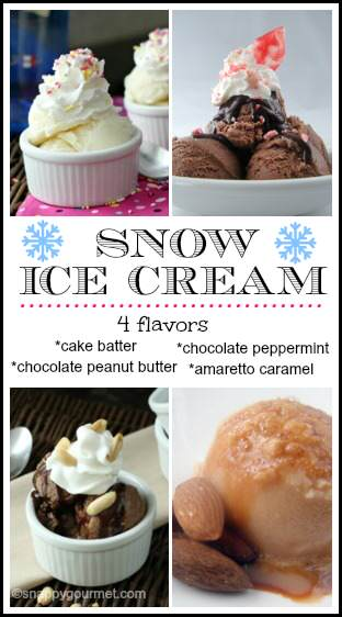 Snow Ice Cream Recipes | snappygourmet.com