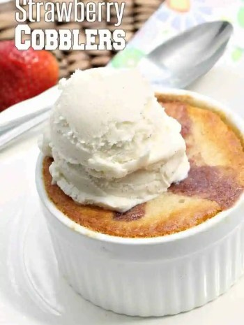 Strawberry Cobbler Recipe (Easy Ramekin Dessert)