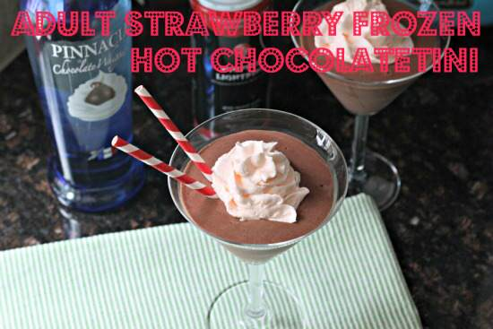 Adult Strawberry Frozen Hot Chocolatetini Cocktail Recipe | SnappyGourmet.com