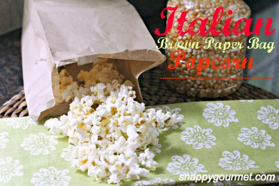 Italian Brown Paper Bag Popcorn (Homemade Microwave Popcorn) | SnappyGourmet.com