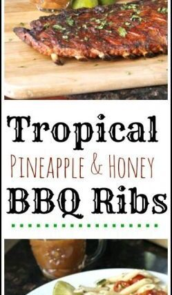 Tropical Pineapple & Honey BBQ Ribs recipe - great summer family or party dinner recipe! SnappyGourmet.com