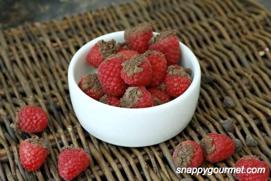 Chocolate Cheesecake Stuffed Raspberries Recipe | SnappyGourmet.com