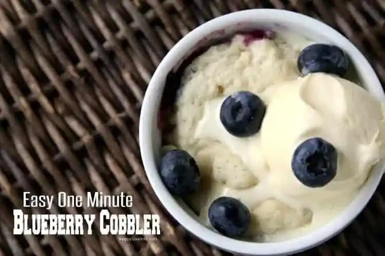 Easy Blueberry Cobbler Recipe - homemade dessert for one