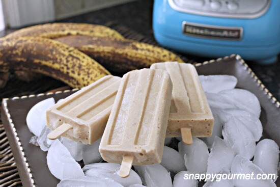 Bananas Foster Popsicles Recipe | SnappyGourmet.com