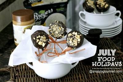 Dipped Oreo Ice Cream Pops - July Food Holidays