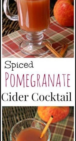 Spiced Pomegranate Cider Cocktail