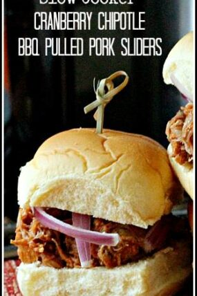 Cranberry Chipotle BBQ Pulled Pork Sliders Recipe | snappygourmet.com