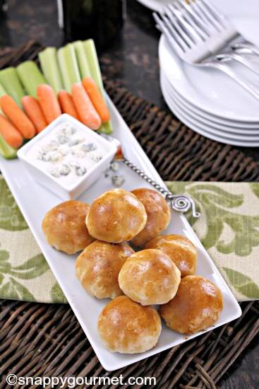 Buffalo Chicken Biscuit Poppers | SnappyGourmet.com