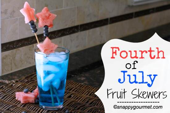 Fourth of July Fruit Skewers | snappygourmet.com