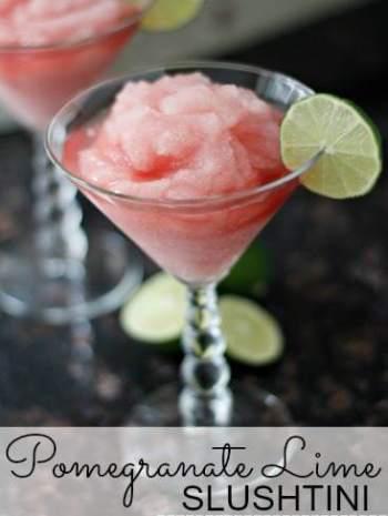 Pomegranate Lime Slushtini Cocktail