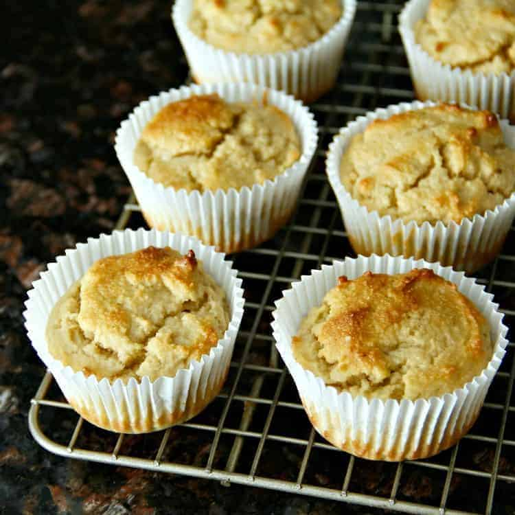 Almond Flour Muffins on Rack