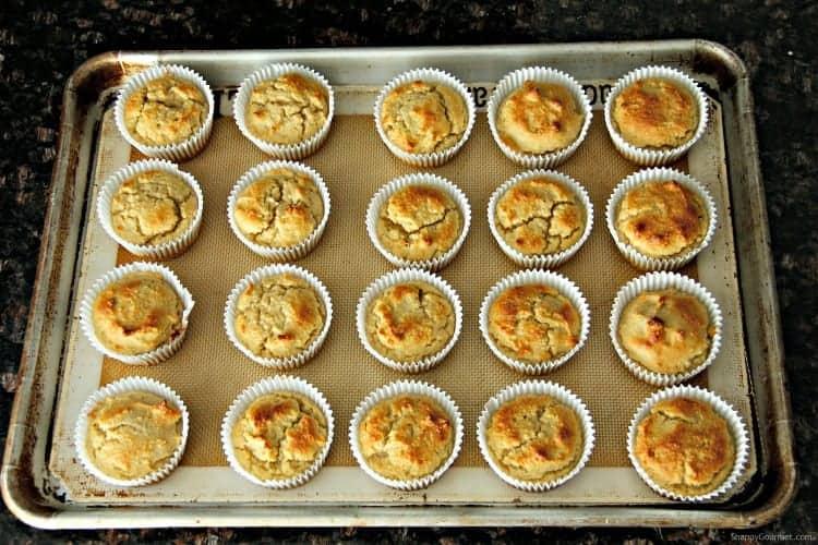 Almond Flour Muffins on baking sheet