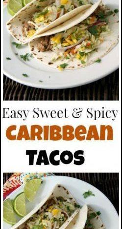 Easy Caribbean Tacos