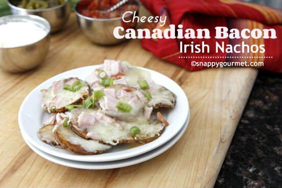Cheesey Canadian Bacon Irish Nachos Recipe   snappygourmet.com