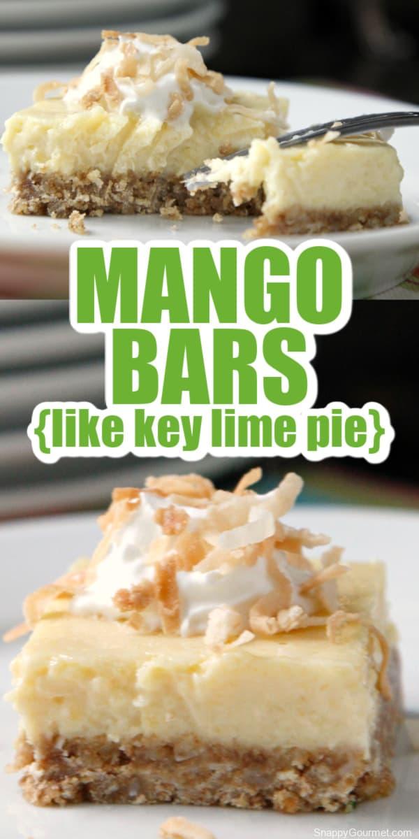 collage of mango bars