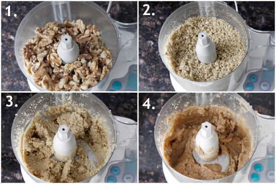 Cinnamon Vanilla Roasted Walnut Butter (process)| snappygourmet.com