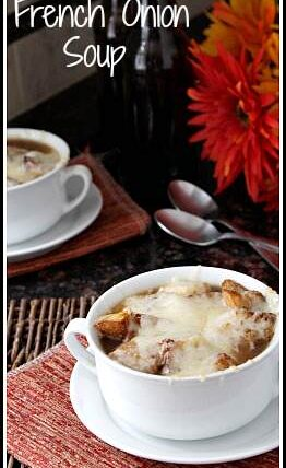 Slow Cooker French Onion Soup Recipe | snappygourmet.com