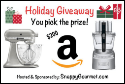 holiday giveaway snappygourmet.com