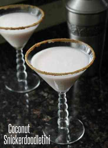 Coconut Snickerdoodletini Cocktail | snappygourmet.com