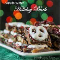 Favorite Christmas Cookies Recipes (Vanilla Wafer Holiday Bark) | snappygourmet.com