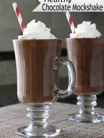 Healthy Chocolate Milkshake (Mockshake Recipe)