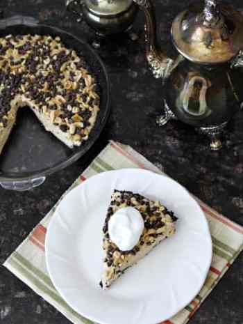 No-Bake Chocolate Peanut Butter Pie - an easy homemade pie! SnappyGourmet.com