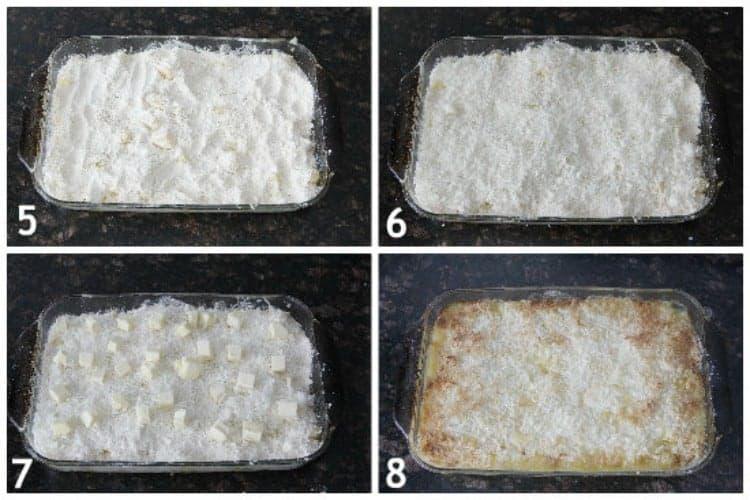 Piña Colada Dump Cake Recipe - Easy pineapple coconut cake recipe with not many ingredients. SnappyGourmet.com